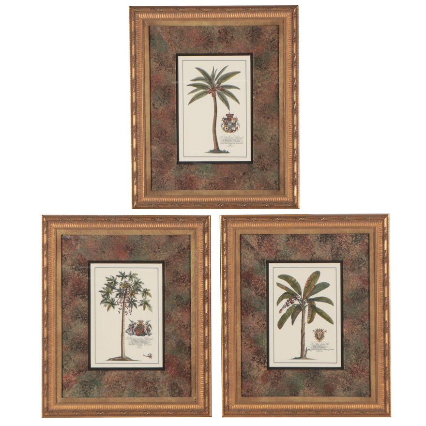 Hand-Colored Giclées of Palm Trees