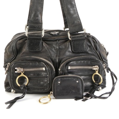 Chloé Betty Satchel in Black Leather with Coin Pouch