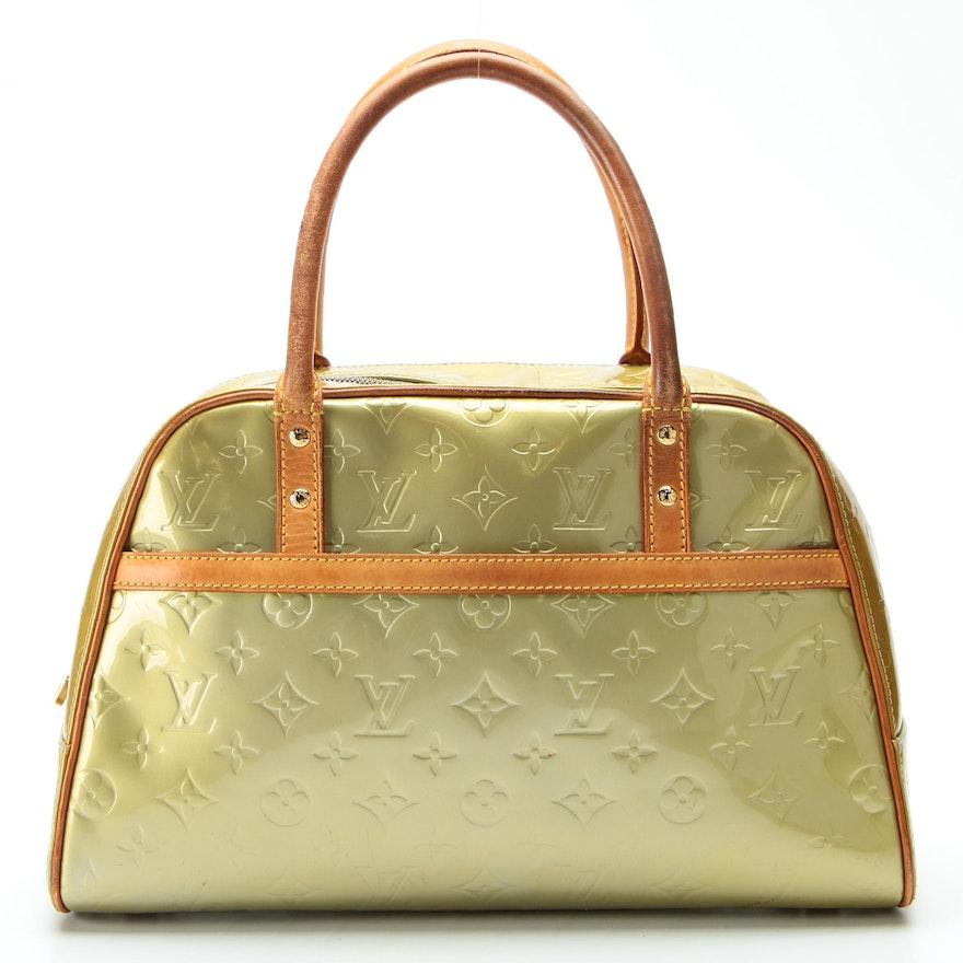 Louis Vuitton Tompkins Square Bag in Monogram Vernis and Vachetta Leather