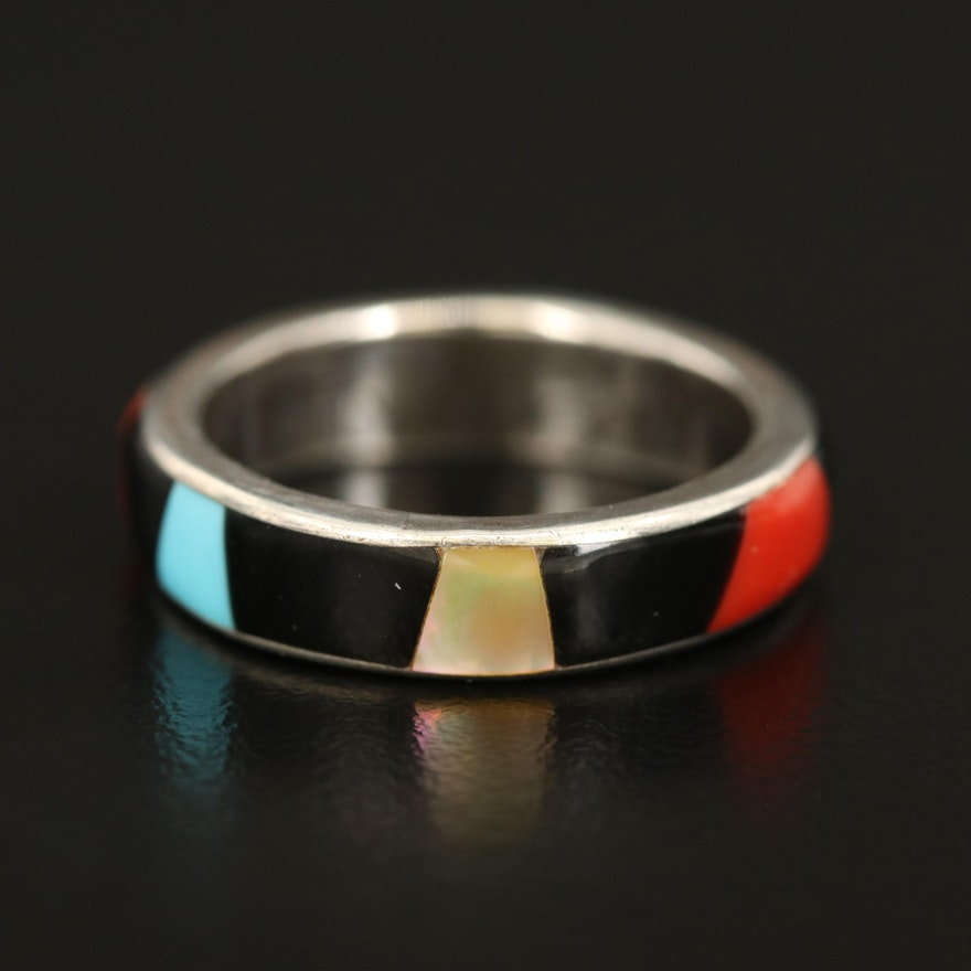 Carlisle Jewelry Co. Eternity Inlay Band Including Mother of Pearl