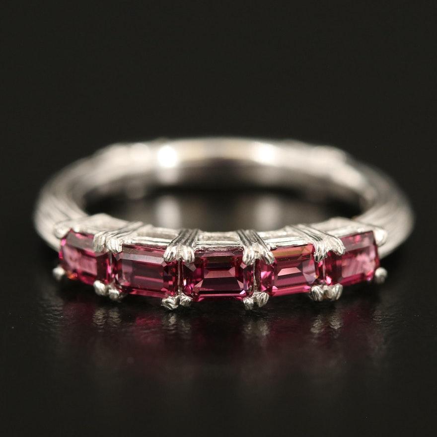 Ariva Sterling Rhodolite Garnet Ring
