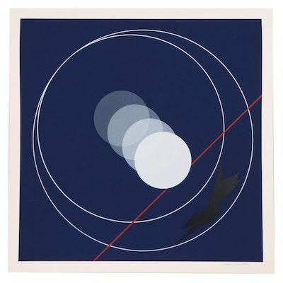 Thomas Whelan Benton Abstract Geometric Serigraph, 1981