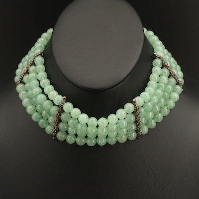 Sterling Quartz Multi-Strand Beaded Necklace