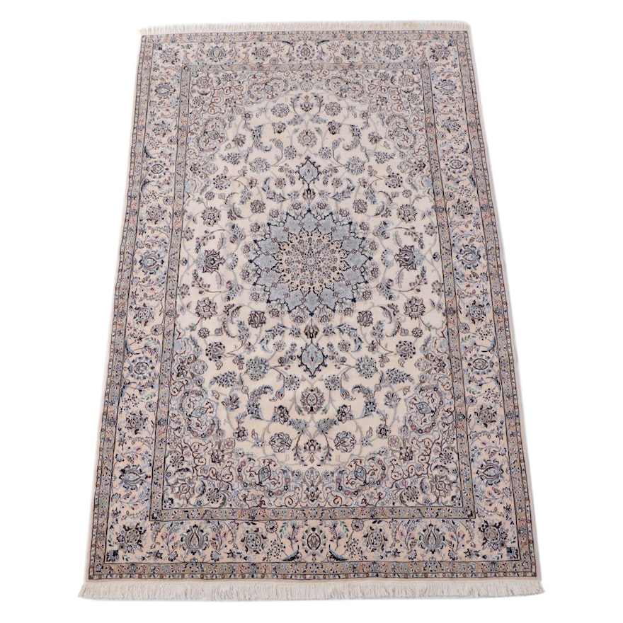 6'7 x 11'1 Hand-Knotted Persian Nain Area Rug