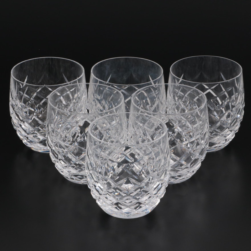 """Waterford Crystal """"Powerscourt"""" Old Fashioned Glasses, Mid to Late 20th Century"""