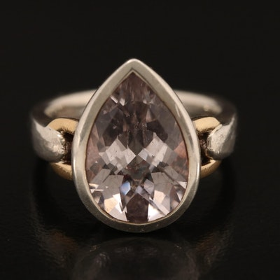 Lorenzo 970 Silver Amethyst Ring with 18K Accents