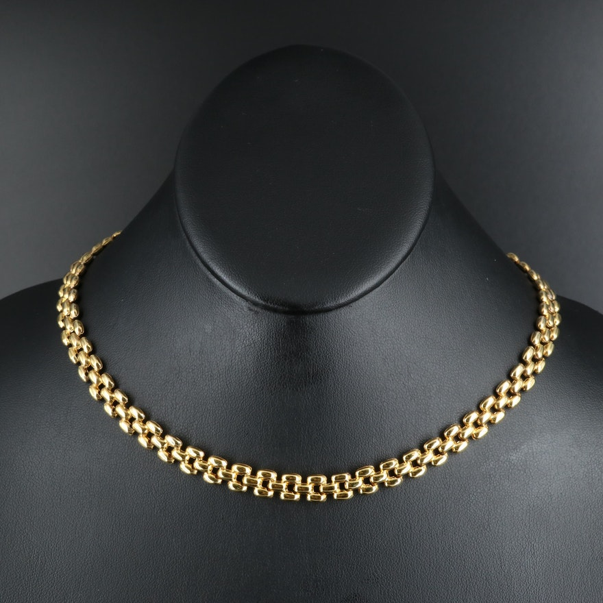 Sterling Panther Chain Necklace