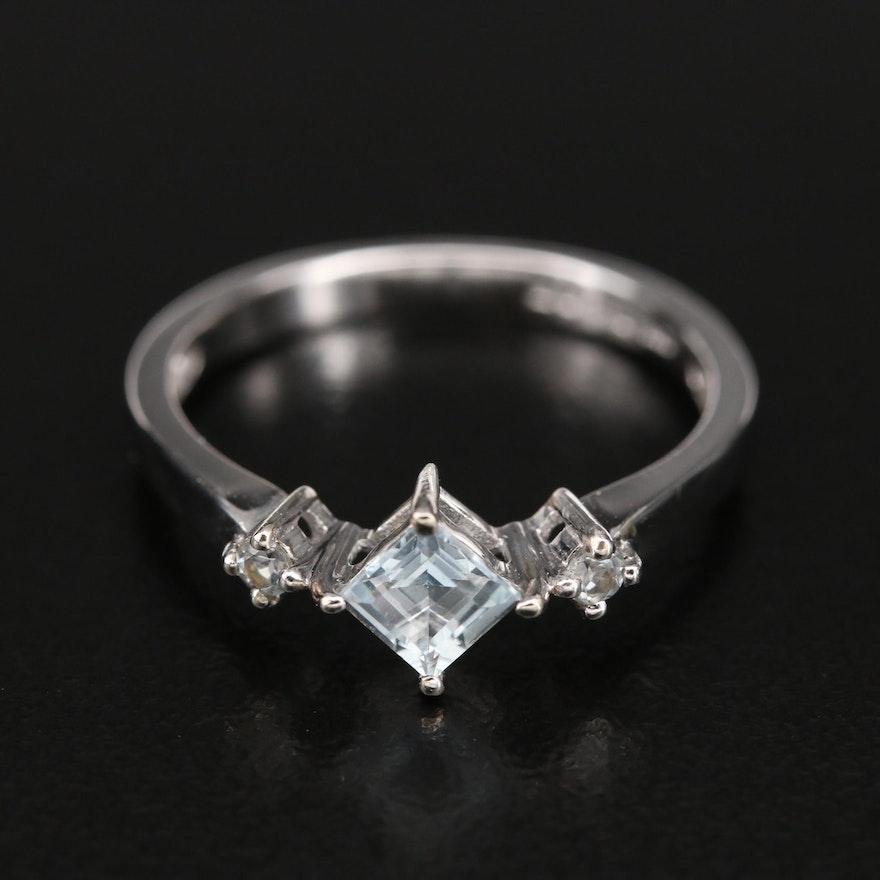 10K Aquamarine Ring