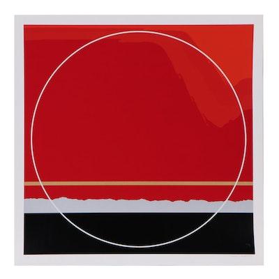 """Thomas Whelan Benton Serigraph """"Red Landscape,"""" 1979"""