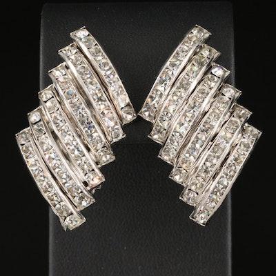 Vintage Butler & Wilson Tiered Bar Earrings