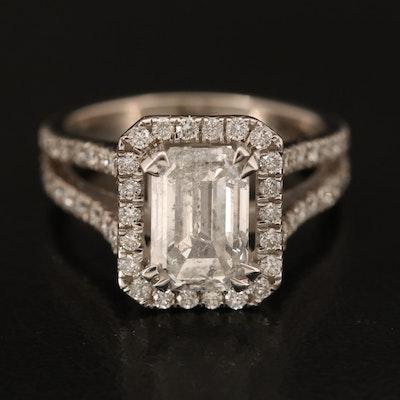 14K 2.57 CTW Diamond Split Shank Ring