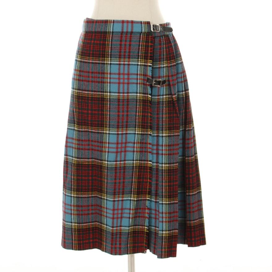 The Scottish Wool Shop Pleated Tartan Kilt Skirt