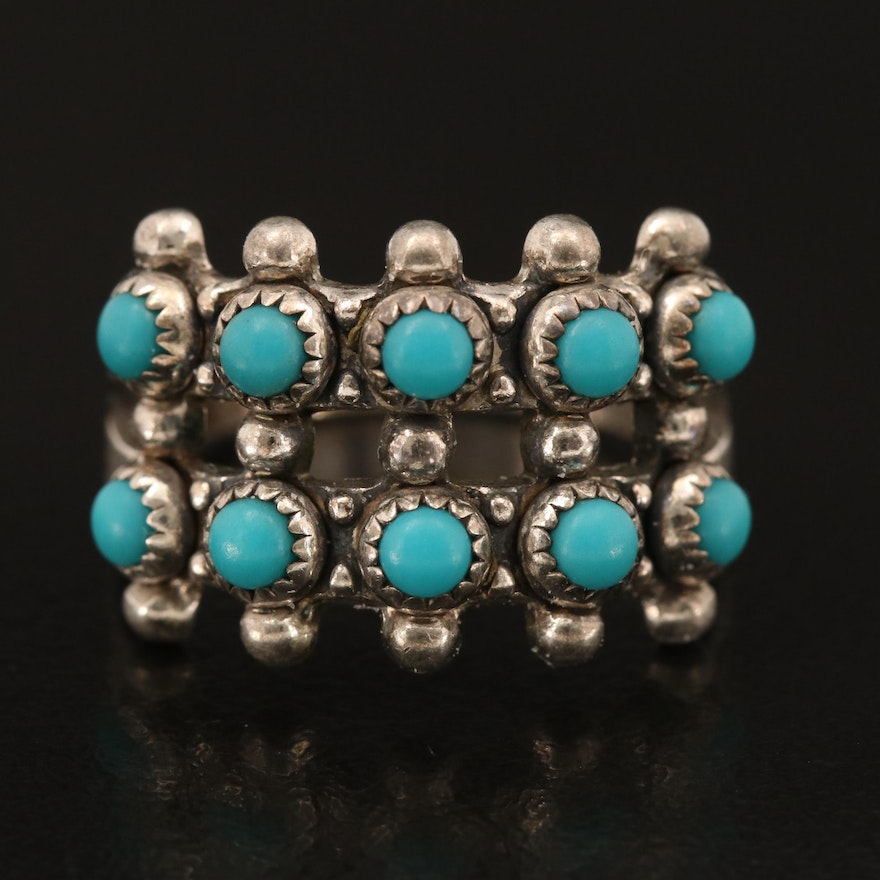 Bell Trading Post Sterling Faux Turquoise Ring