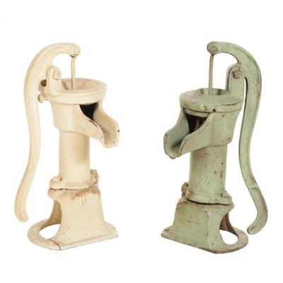 Pair of Cast Iron Humphryes MFG Co. Well Water Hand Pumps