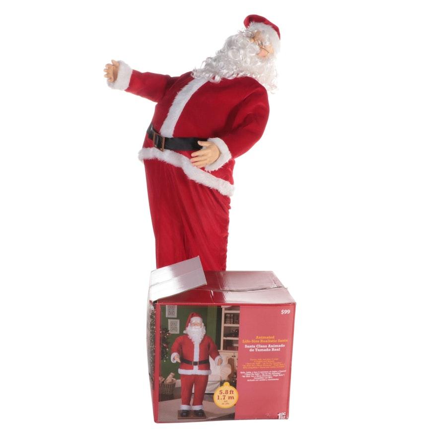 Holiday Time Life Size Santa Christmas Decor