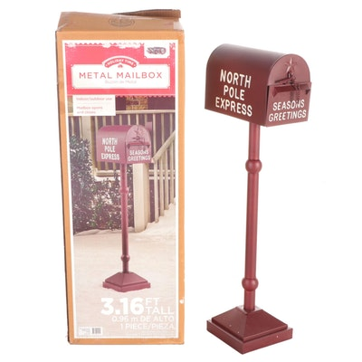Holiday Time Decorative Metal Mailbox