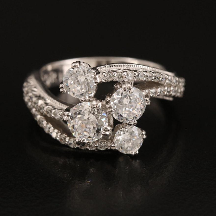 Tacori Sterling Cubic Zirconia Ring