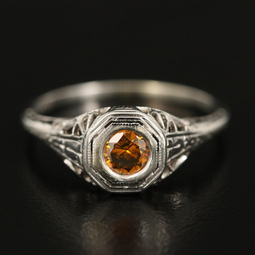 Vintage 14K 0.30 CT Diamond Ring