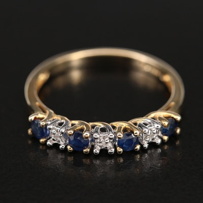 10K Sapphire and Diamond Trellis Ring