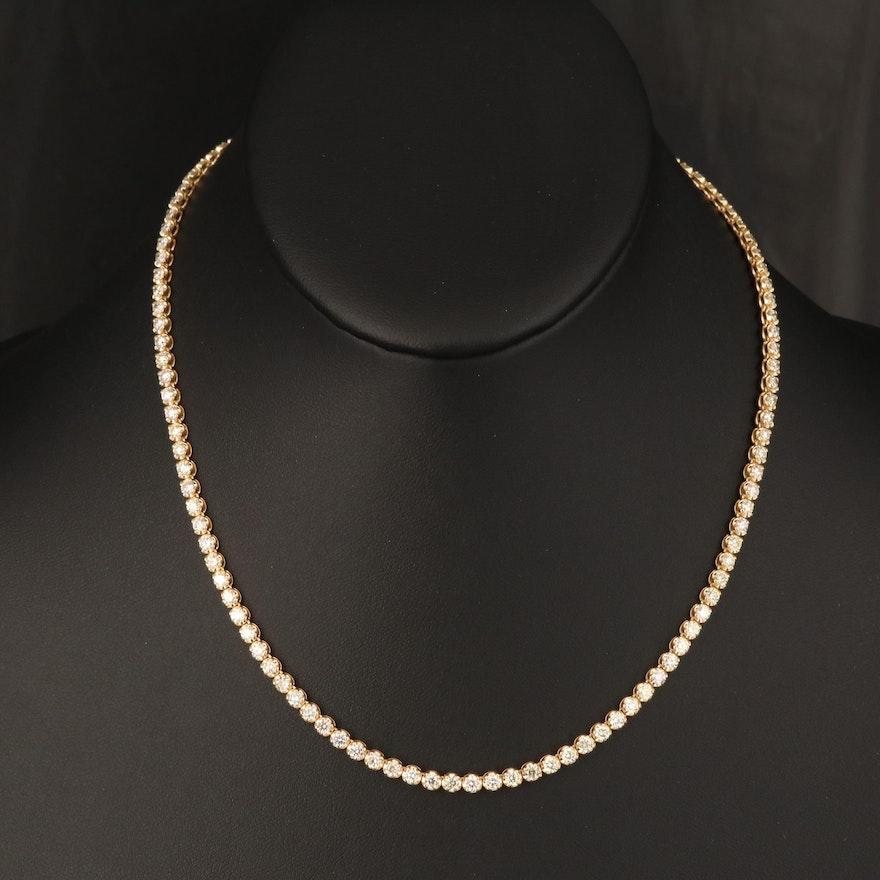 18K 7.50 CTW Yellow Diamond Rivière Necklace