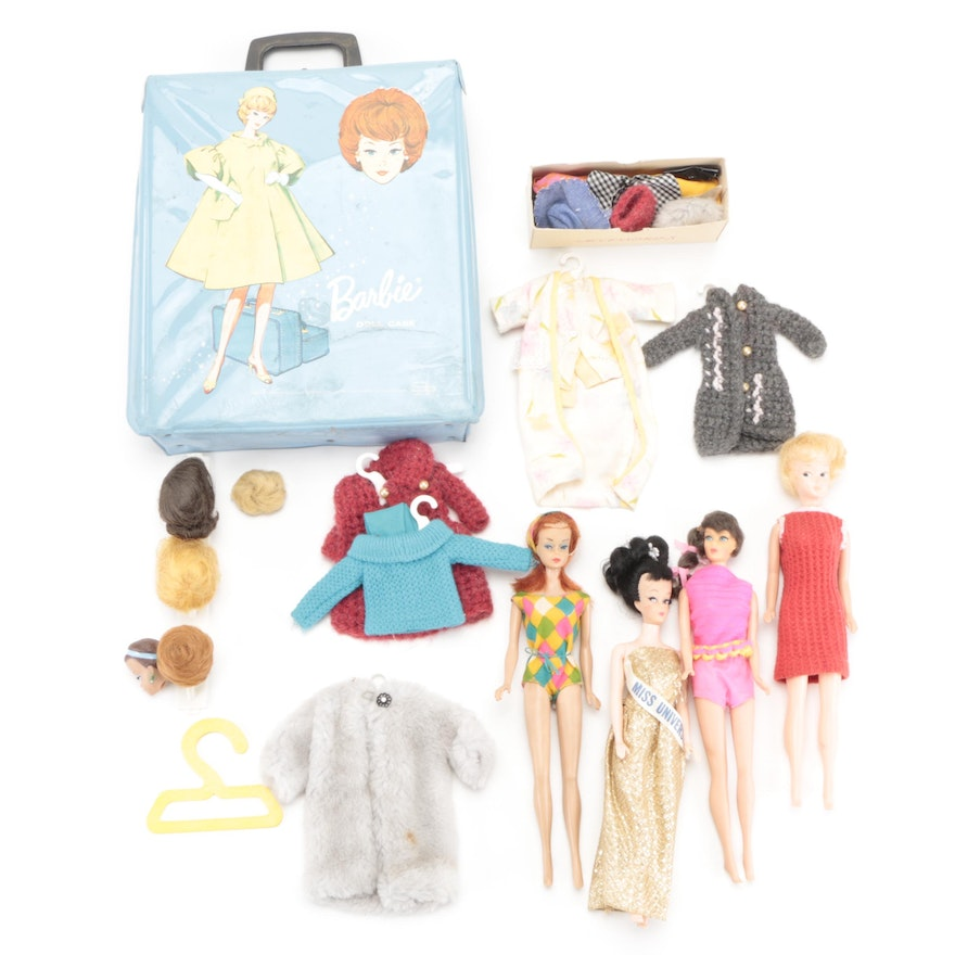 Mattel Talking Barbie Doll, Doll Case with Accessories, Other Dolls, 1960s