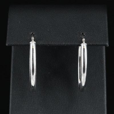 14K Elongated Hoop Earrings