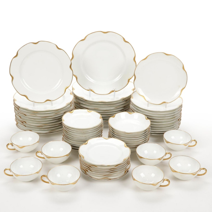 """Haviland and Co. Limoges """"Silver Anniversary"""" Porcelain Tableware"""