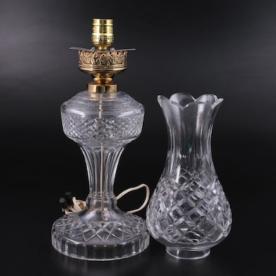 Waterford Crystal and Brass Table Lamp