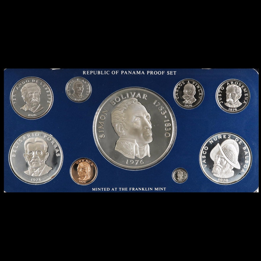 Two Republic of Panama Proof Sets