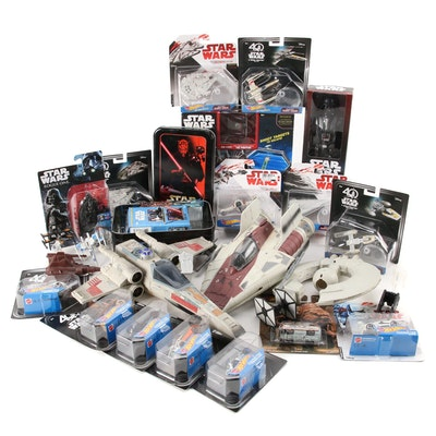 Star Wars Trading Cards, Action Figures, Fighter Ships, and Hot Wheels