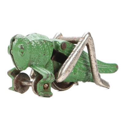 Hubley Cast Iron Grasshopper Pull Toy, Vintage