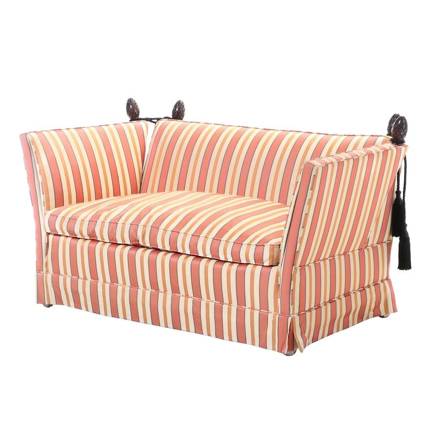 Allen Waters Associates Knole Style Upholstered Loveseat Sofa