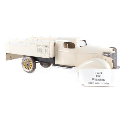 Wyandotte Pressed Steel Toy Town Milk Co. Truck, Early 20th Century