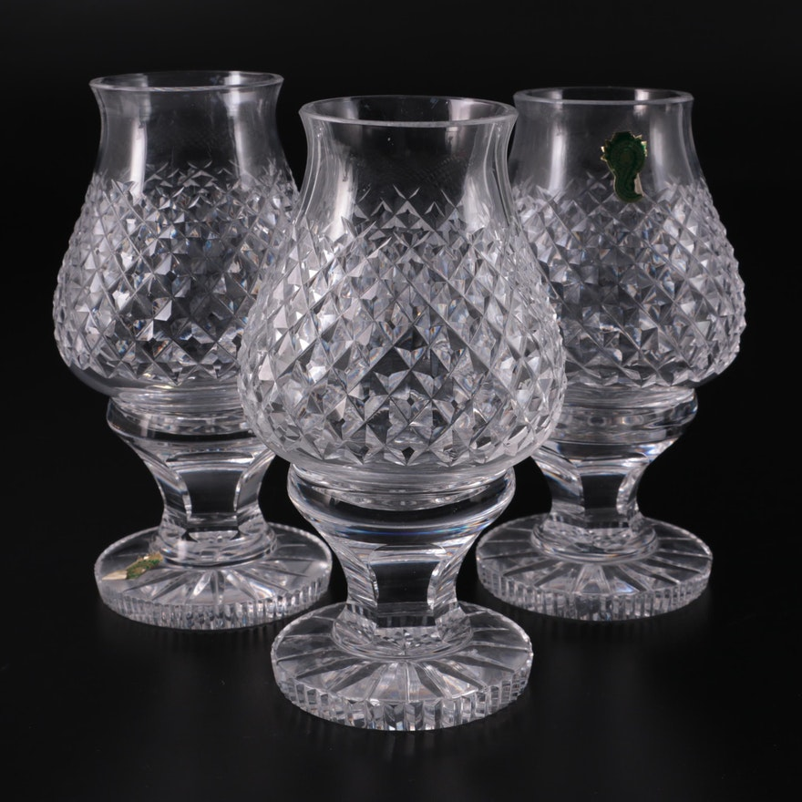 """Waterford Crystal """"Alana"""" Hurricane Lamps"""