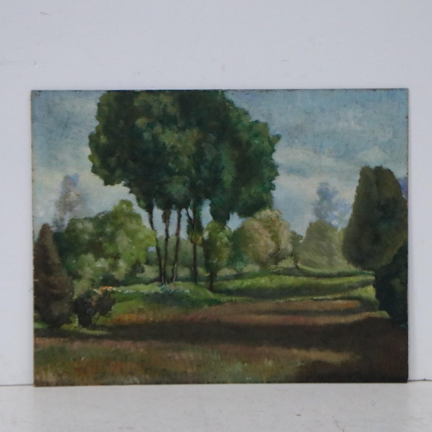 Landscape Oil Painting, Early to Mid-20th Century