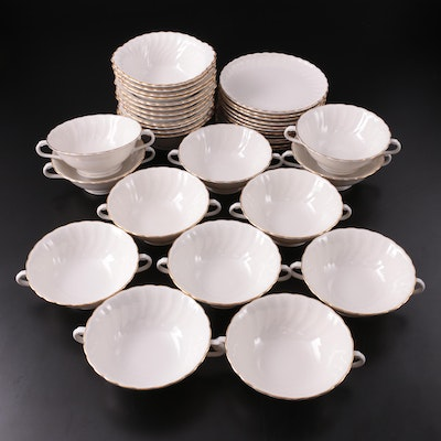 """Silhouette by Syracuse """"Debonair"""" Bread Plates, Soup and Cereal Bowls, 20th C."""