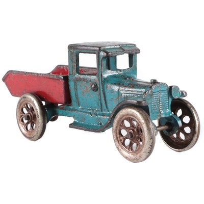 Cast Iron Work Truck Toy, Early to Mid-20th Century
