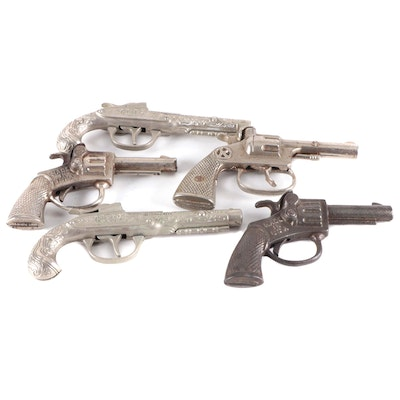Cast Iron and Other Metal Toy Guns, Early to Mid-20th Century