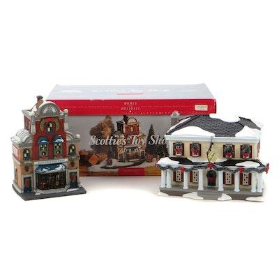 "Dept. 56 ""Scotties Toy Shop"" and ""Eden Prairie Inn"" Christmas Buildings"