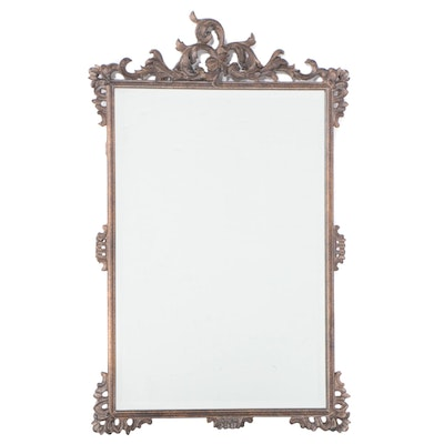 Uttermost Rococo Style Patinated Metal and Composition Mirror