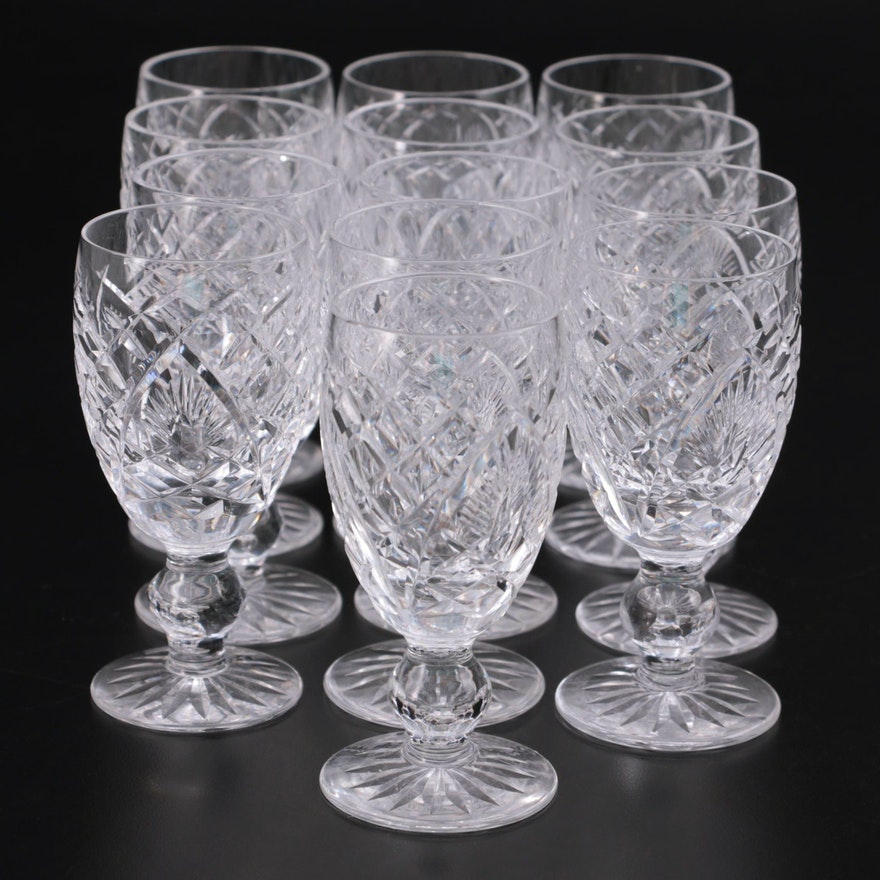 """Waterford Crystal """"Shannon Jubilee"""" Goblets, Mid to Late 20th Century"""