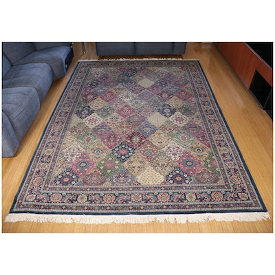 7'7 x 11'2 Hand-Knotted Wool Area Rug