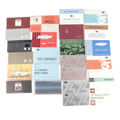 Automobile Owners Manuals Including Nova, Chevelle, Monte Carlo and More