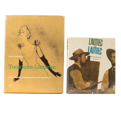 """Toulouse-Lautrec Art Books Featuring """"Lautrec by Lautrec,"""" Mid-20th Century"""