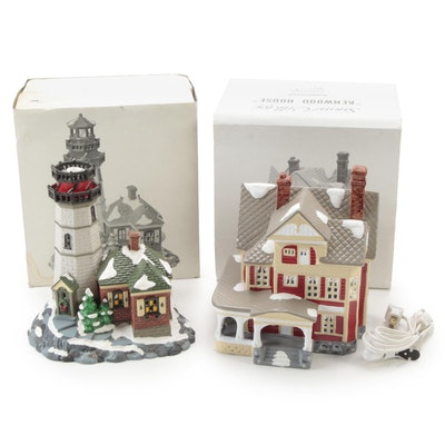 """Department 56 Snow Village """"Christmas Cove Lighthouse"""" and More"""