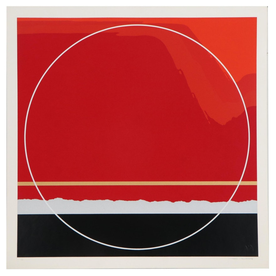 Thomas Whelan Benton Abstract Serigraph, 1979