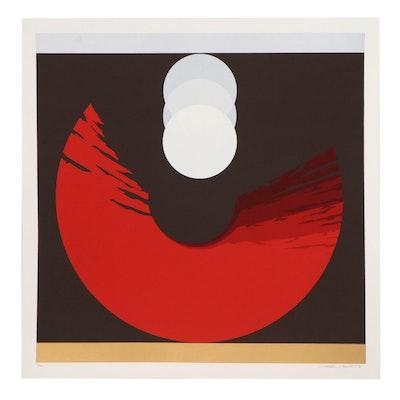 "Thomas Whelan Benton Serigraph ""Evolution Series Red,"" 1981"