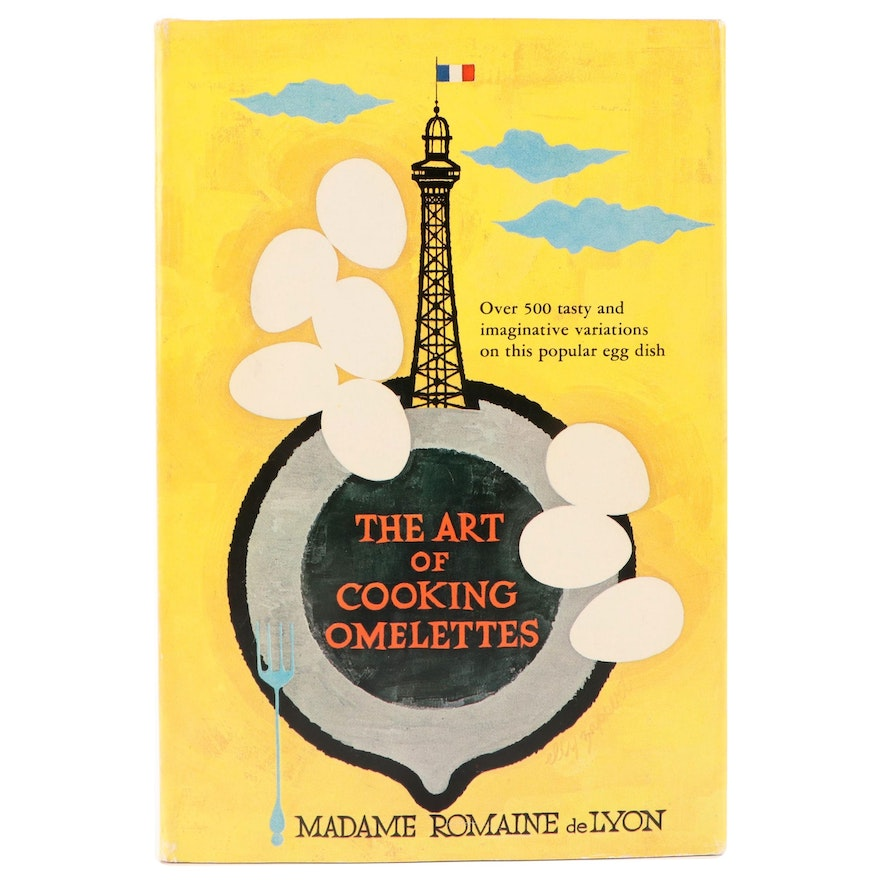 """Signed First Edition """"The Art of Cooking Omelettes"""" by Madame Romaine de Lyon"""