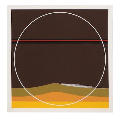 """Thomas Whelan Benton Serigraph """"Yellow Dunes,"""" 1981"""