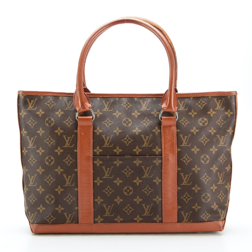 Louis Vuitton Sac Weekend Travel Tote in Monogram Canvas and Leather